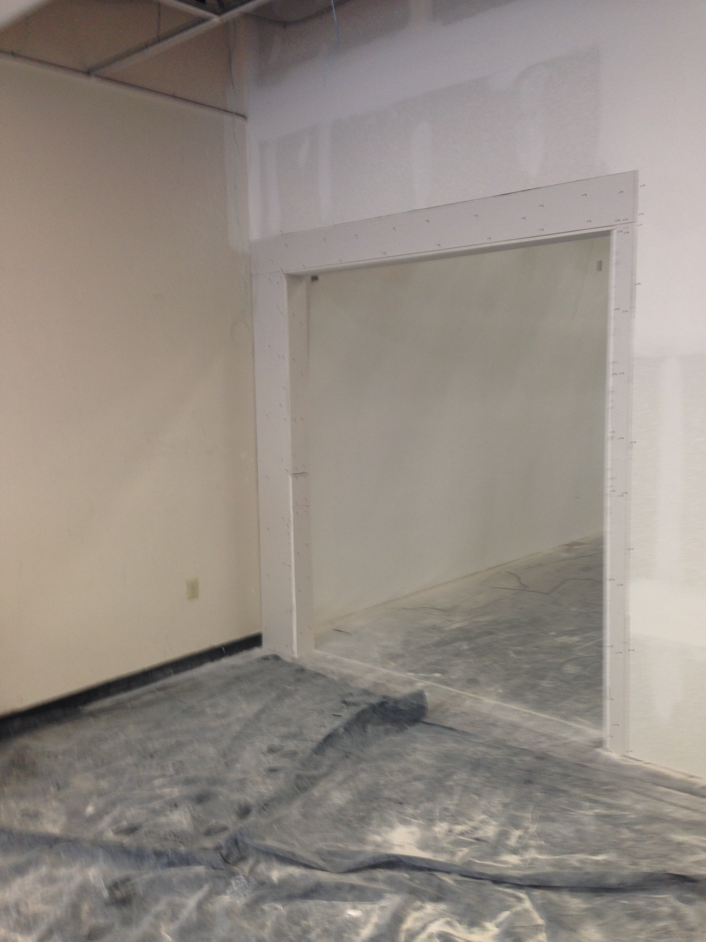 New doorway from training room to lounge