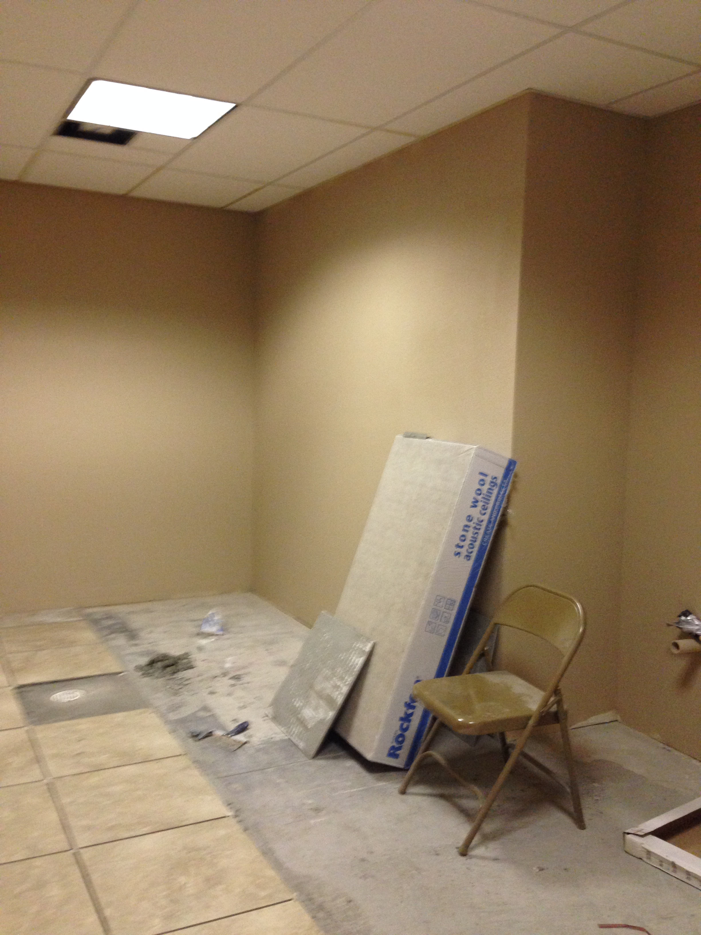 Women's restroom almost completed